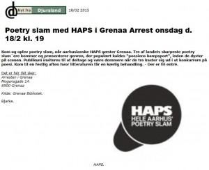 HAPS i Arresten